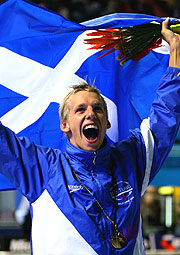 Scotsman David Carry was one of swimmers who led the Scottish swimming juganaut, with two gold and one silver at the Games.