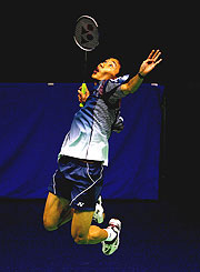 Gold medal favourite Chong Wei Lee from Malaysia.