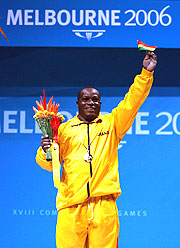 Majeti Fetrie from Ghana enjoys his golden moment.
