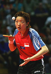 Gold medallist Xue Ling Zhang of Singapore.