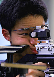 Singapore's Jin Zhang kept the level of competition high in the Men's 10m Air Rifle.