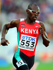 Wilfred Bungei of Kenya in the men's 800m semi at the 10th IAAF World Athletics Championships.