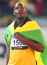 100m Commonwealth Champion Asafa Powell.