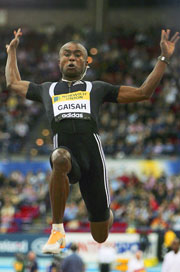 Ignisious Gaisah of Ghana has won the Men's Long Jump at the Melbourne Cricket Ground (MCG).