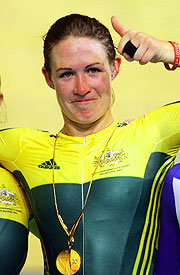 Kate Bates rode to gold in memory of teammate Amy Gillett.