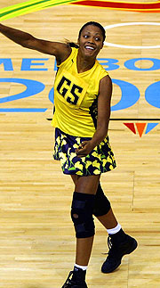 Captain Elaine Davis a key player in the Jamaican team.