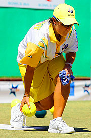Australia's Karen Murphy will bowl for gold in the Women's Pairs.