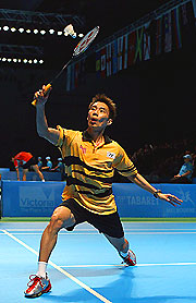 Malaysian shuttler Chong Wei Lee in medal contention.