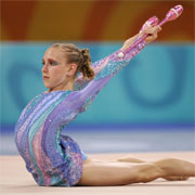 Canada's Stephanie Sandler is a real medal contender at the Melbourne 2006 Commonwealth Games in the Rhythmic Gymnastics competition.