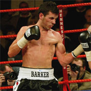England's Darren Barker, gold medallist at the 2002 Manchester Games in the Mens Light Welterweight Division (63.5kg).