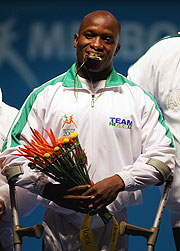 Ruel Ishaku of Nigeria has won the gold medal in the Open EAD Powerlifting competition.