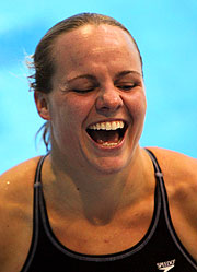 Canada's 1m Springboard Games champion, Blythe Hartley.