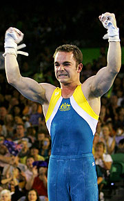 Australia's Joshua Jefferis celebrates his gold medal winning performance.