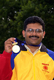 Manchester 2002 Gold medallist Samaresh Jung of India hopes to repeat his victory in today's 50m Pistol Pairs competition.