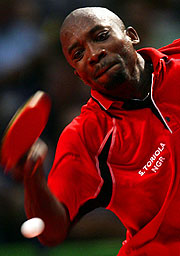Segun Toriola claims his second Table Tennis medal.