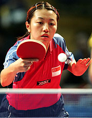 Xue Ling Zhang of Singapore in her gold medal winning performance