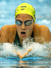 Australia's Stephanie Rice looking for a medal in the Medley.